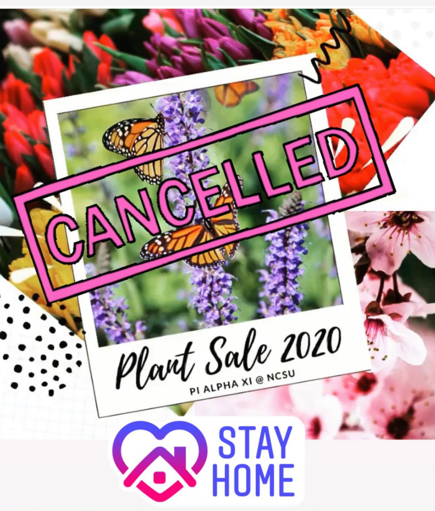 Spring 2020 plant sale canceled